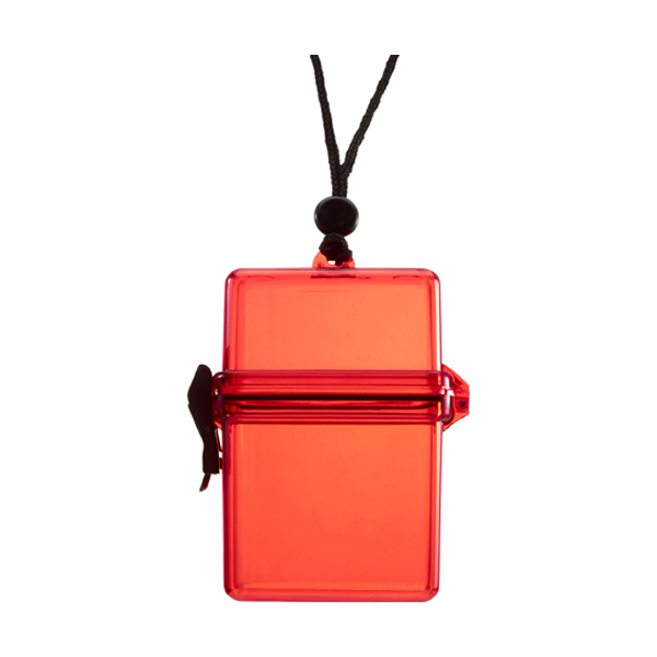 Waterproof container. in red