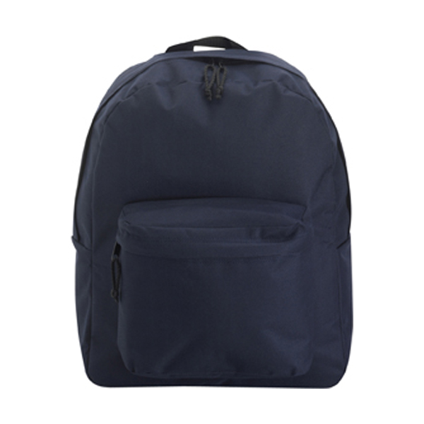 Polyester backpack in blue