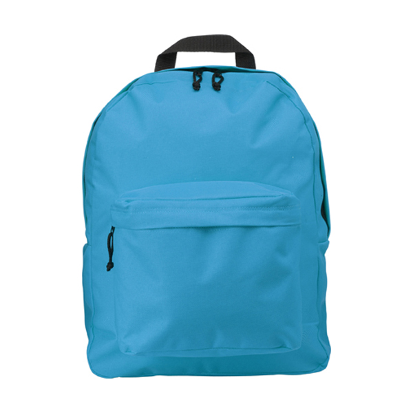 Polyester backpack in light-blue