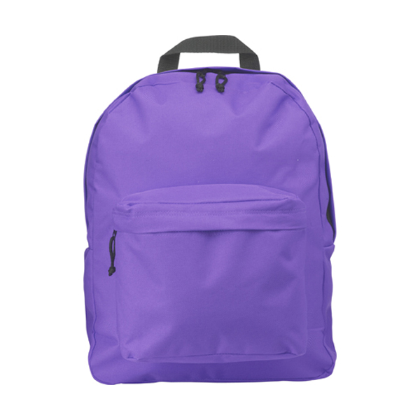 Polyester backpack in purple