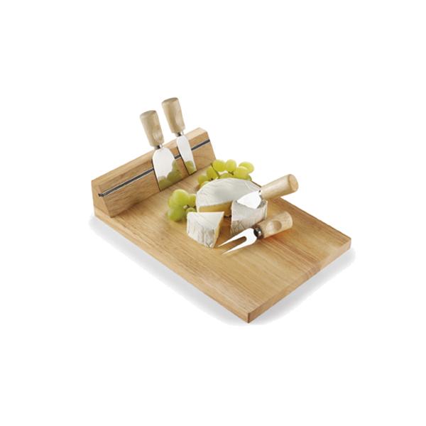 Wooden cheeseboard in neutral