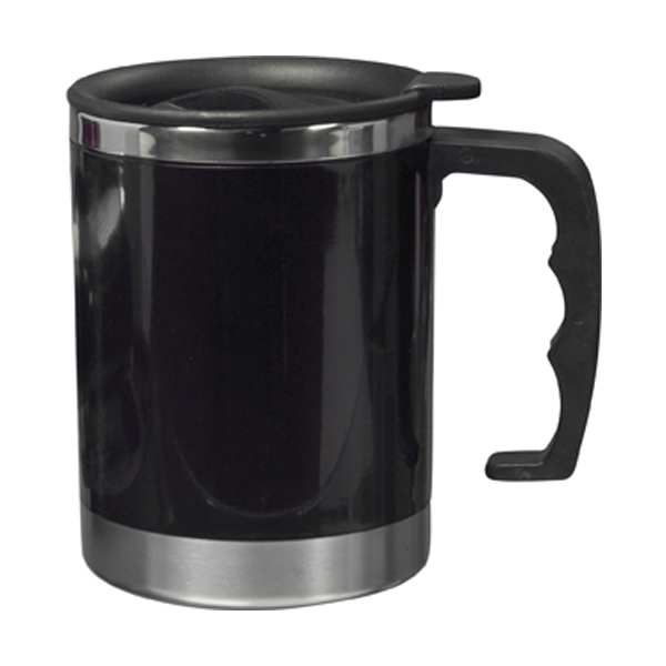 Mug with 0.4 litre capacity in black