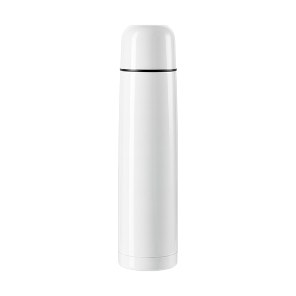 Vacuum flask, 1 litre capacity in white