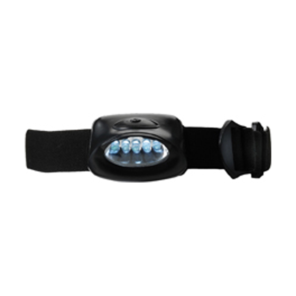 Head light with 5 LED lights in black