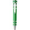 Pen shaped screwdriver in light-green