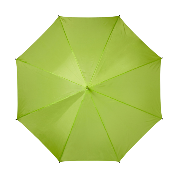 Automatic umbrella with eight panels. in lime