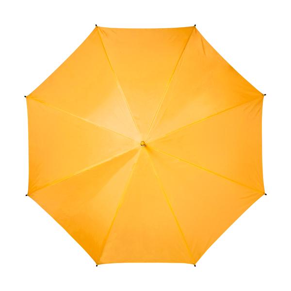 Automatic umbrella with eight panels. in orange