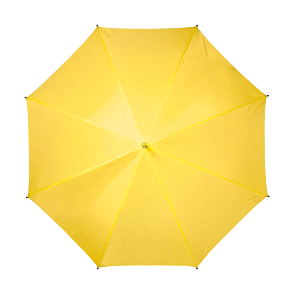 Automatic umbrella with eight panels. in yellow