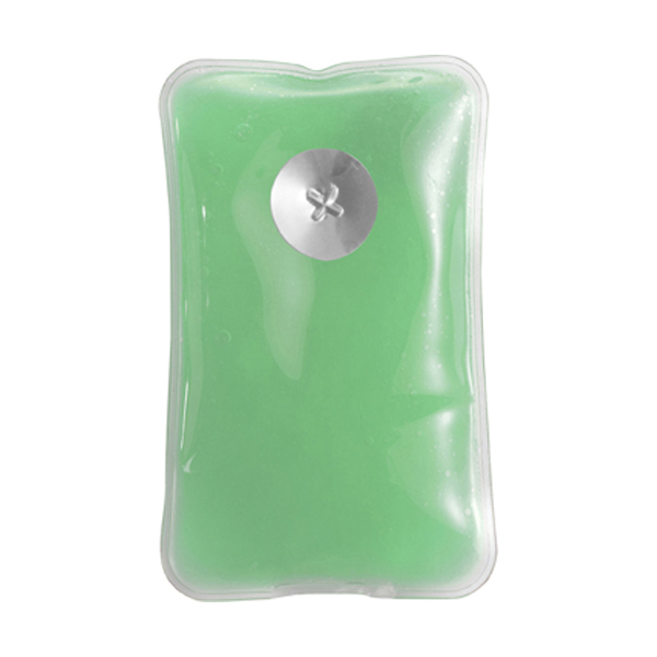 Self heating re-usable pad in light-green