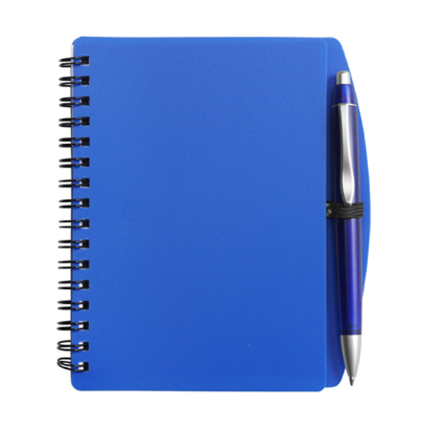 A6 Spiral notebook in blue
