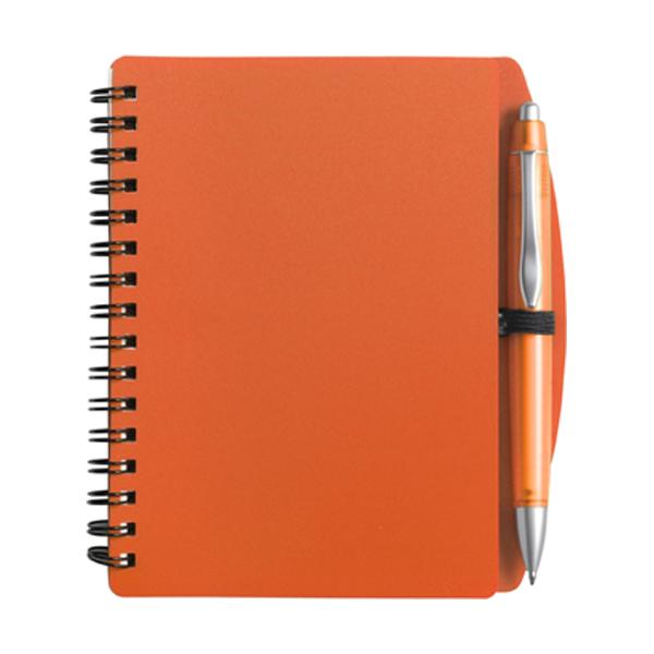 A6 Spiral notebook in orange