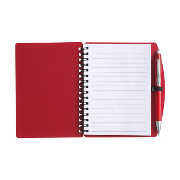 A6 Spiral notebook in red