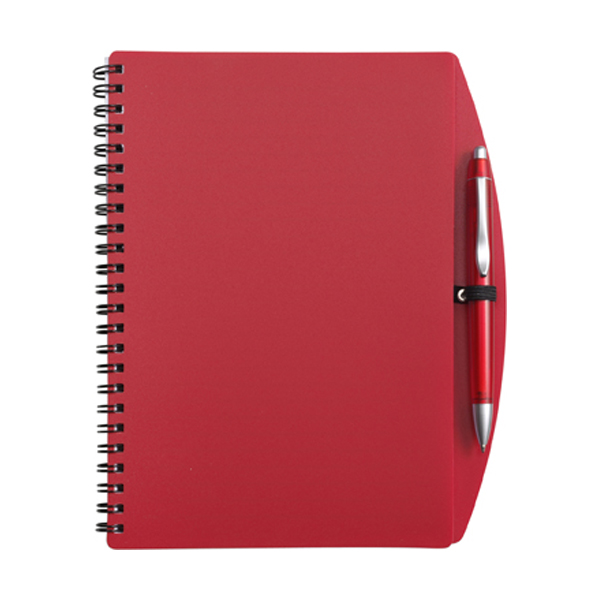 A5 Spiral notebook in red