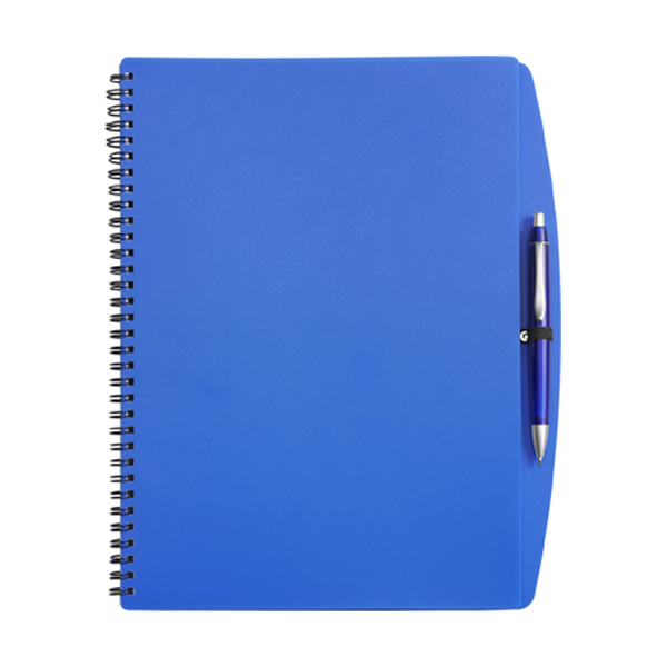 A4 Spiral notebook in blue