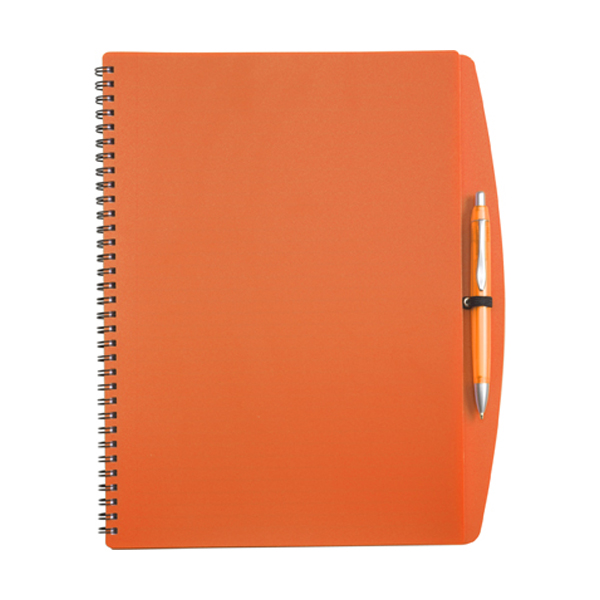 A4 Spiral notebook in orange