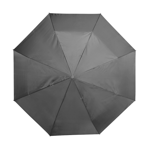 Automatic polyester foldable eight panel umbrella. in black