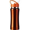 Stainless steel drinking bottle in orange