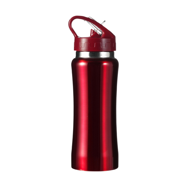 Stainless steel drinking bottle in red