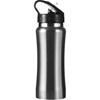 Stainless steel drinking bottle in silver