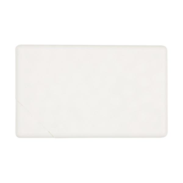 Rectangular mint card in white