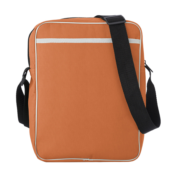 Polyester 600D retro style bag. in orange