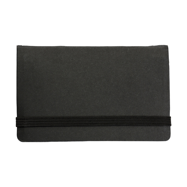 Card case with sticky tabs in black