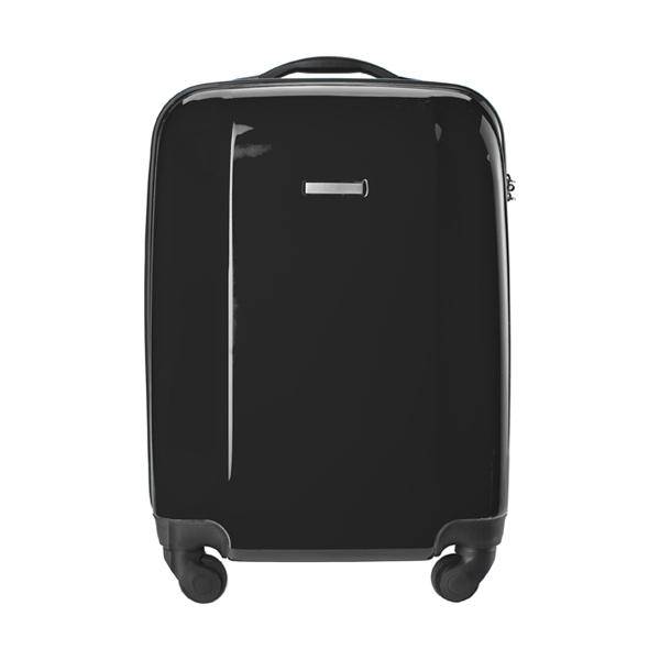 Trolley with four spinner wheels. in black