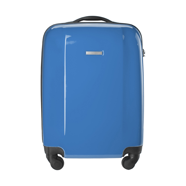 Trolley with four spinner wheels. in cobalt-blue