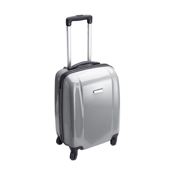 Trolley with four spinner wheels. in grey
