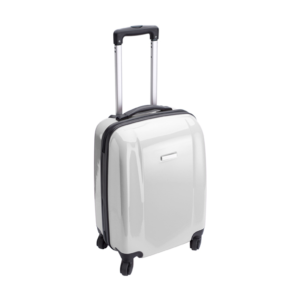 Trolley with four spinner wheels. in white