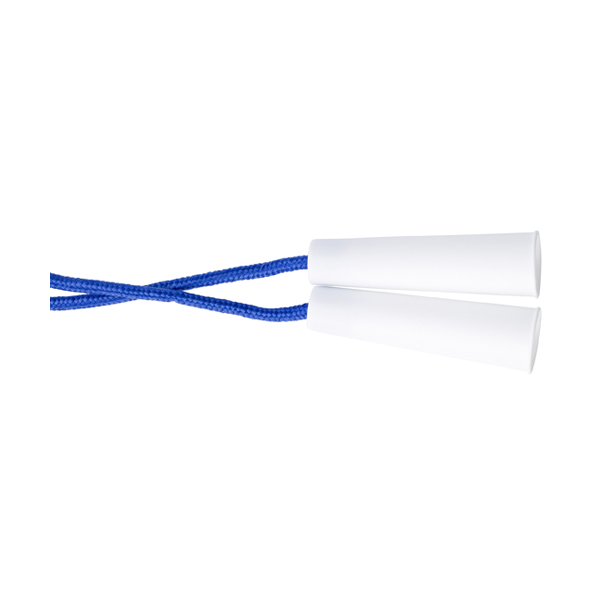 Skipping rope. in cobalt-blue