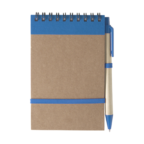 Wire bound notebook in light-blue