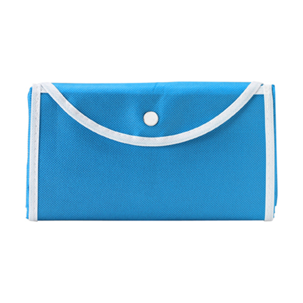 Foldable shopping bag in light-blue