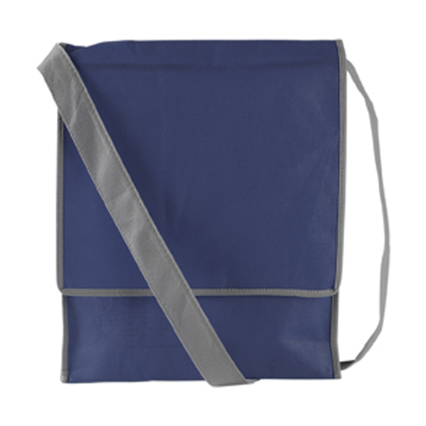 Postman style bag in blue