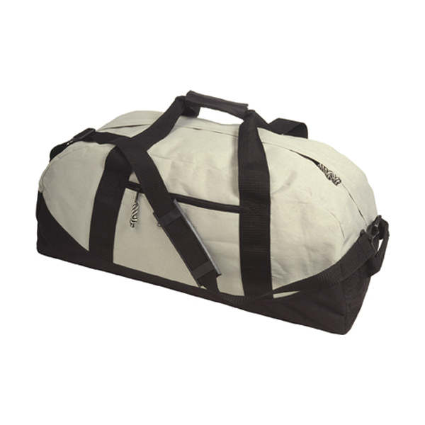 Sports/travel bag in light-grey