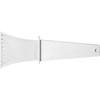 Plastic ice scraper. in white
