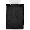 Ice scraper in fleece glove. in black