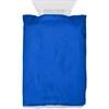 Ice scraper in fleece glove. in cobalt-blue