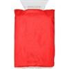 Ice scraper in fleece glove. in red