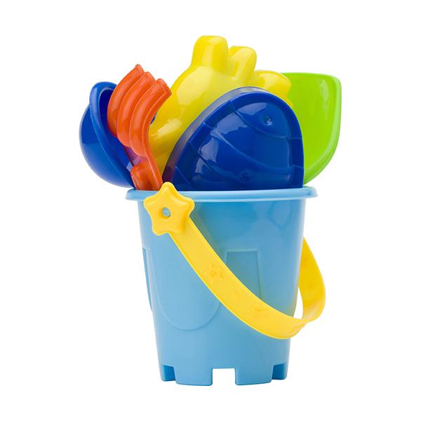 Mini beach bucket in four colours. in multicoloured