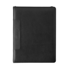Leather Charles Dickens A4 zipped folder in black