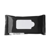 Bag with 10 wet tissues. in black