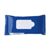 Bag with 10 wet tissues. in cobalt-blue