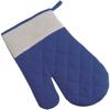 Cotton oven mitten, single in blue