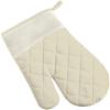 Cotton oven mitten, single in khaki