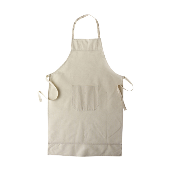 Cotton apron in khaki