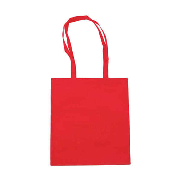 Exhibition bag, non woven  in red
