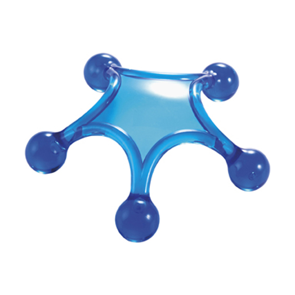 Body massager in cobalt-blue