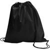 Drawstring bag, non woven  in black