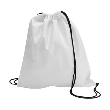 Drawstring bag, non woven  in white